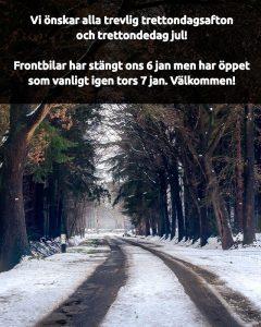 FRONTBILAR Karlstad Jul
