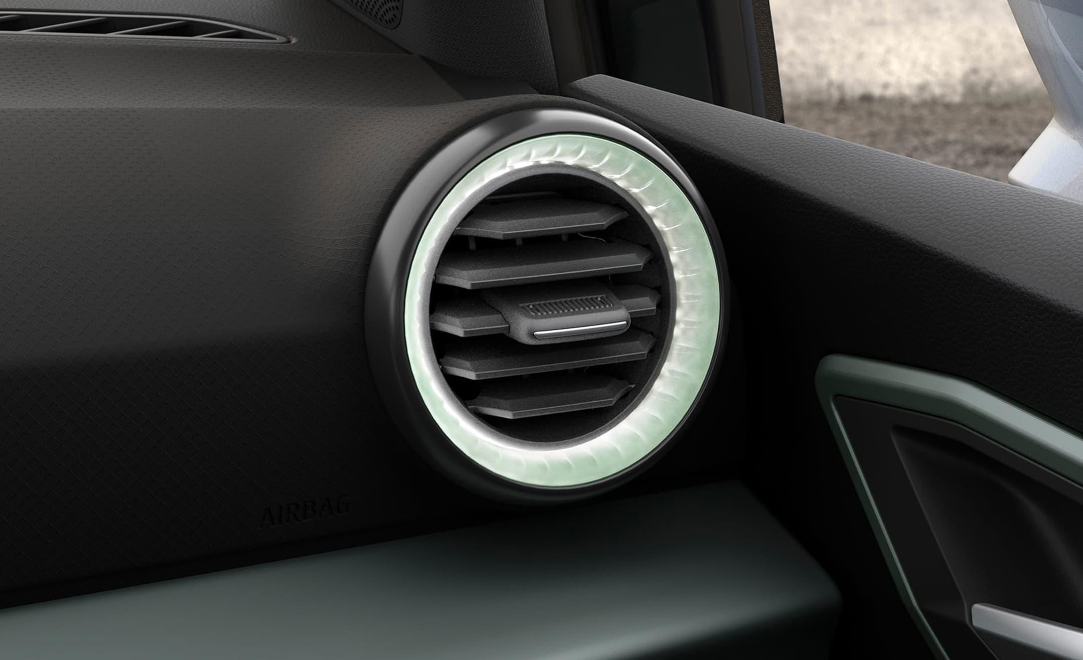 SEAT Arona 2021 LED-belysningen runt luftinslappen